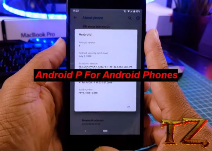 Android P on Android phones